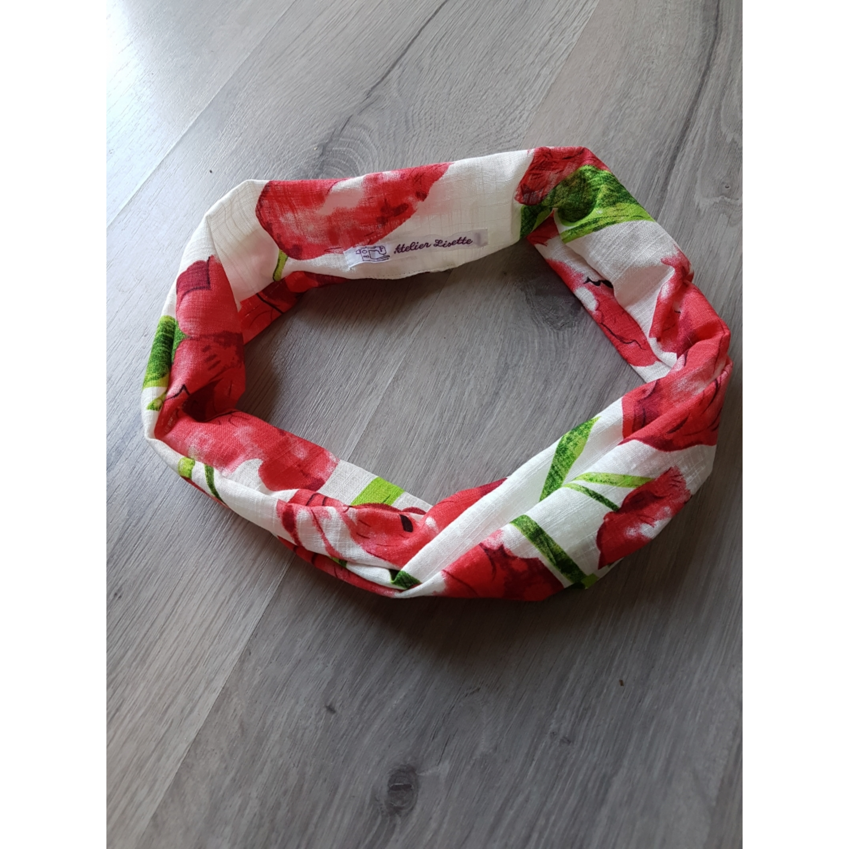 Haarband bloem rood