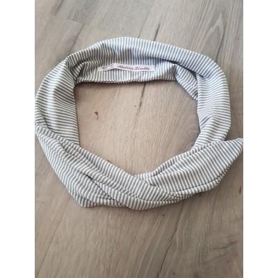 Haarband grey stripe