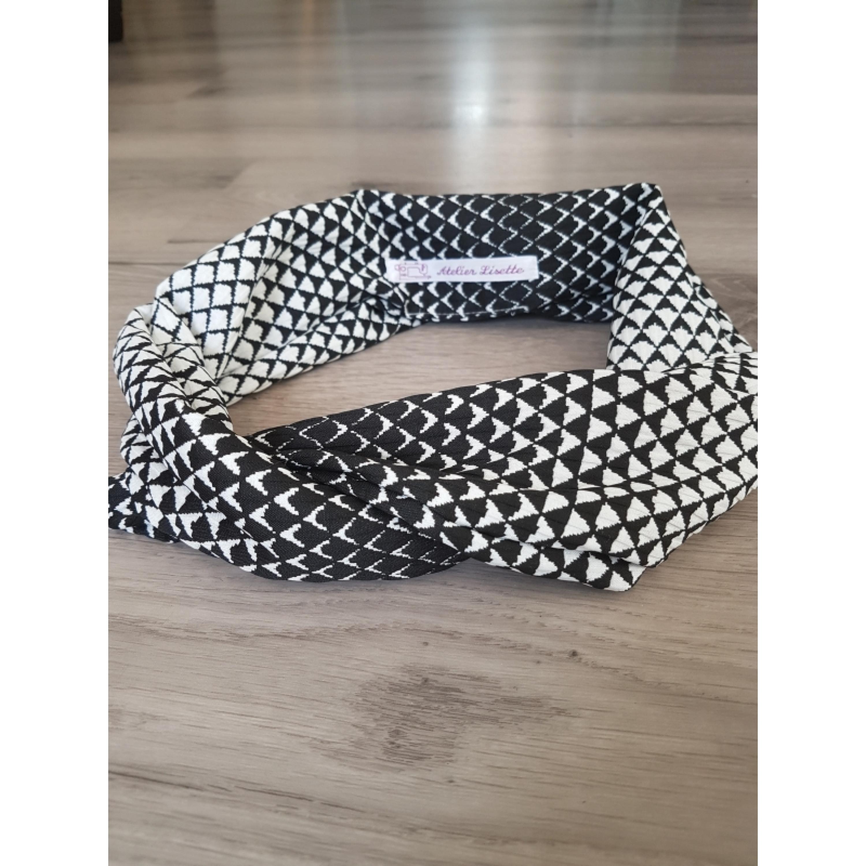 Haarband zwart-wit