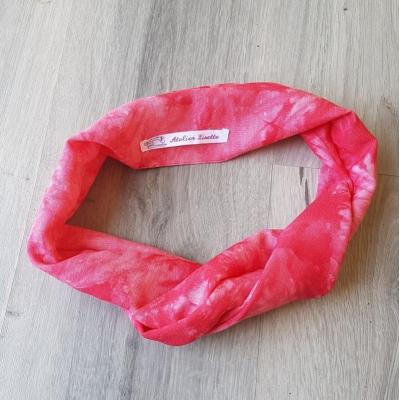 Haarband tie dye red