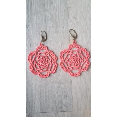 Oorbellen pink lace