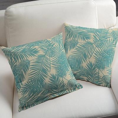 Kussenhoes palm aqua
