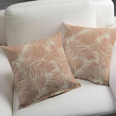 Kussenhoes palm oudroze