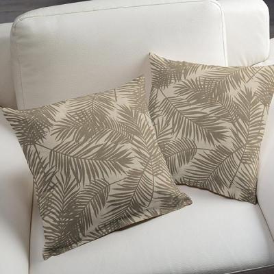Kussenhoes palm beige