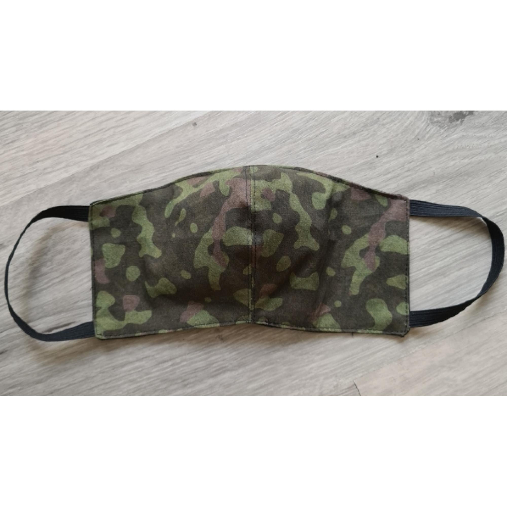 Mondkapje camouflage groen