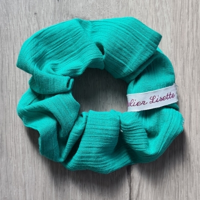 Scrunchie black-white dots