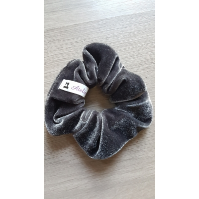 Scrunchie grey velvet