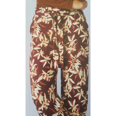 Broek bordeaux flower
